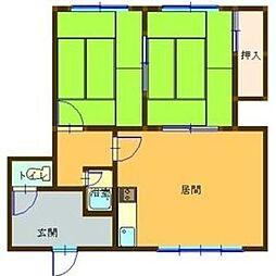 大北第2マンション[3号室]の間取り