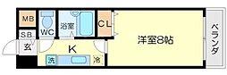 プロシード江坂[3階]の間取り