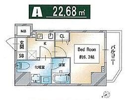 都営三田線 西巣鴨駅 徒歩3分の賃貸マンション 6階1Kの間取り