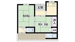 [テラスハウス] 大阪府大阪市鶴見区鶴見2丁目 の賃貸【/】の間取り