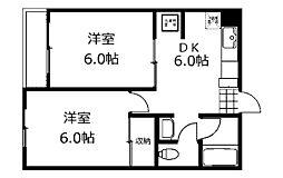 カーサドニル[2階]の間取り