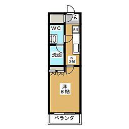 HY´S亀戸 7階1Kの間取り