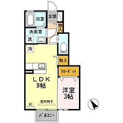 D−Roomルフィー[105号室]の間取り