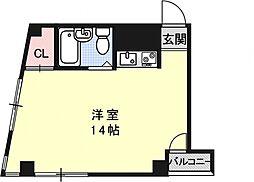 デパール祇園[2階]の間取り