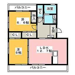 プログレス1・2[3階]の間取り
