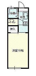 JR奥羽本線 蔵王駅 東北文教大北口下車 徒歩3分の賃貸アパート 2階1Kの間取り