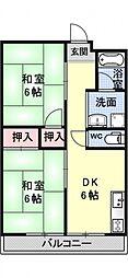 深田マンション[201号室号室]の間取り
