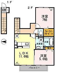 アドバンスミカゲ[2階]の間取り