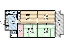 三番町マンション[3階]の間取り