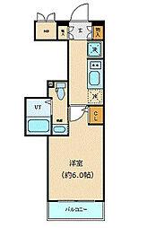 東京メトロ銀座線 虎ノ門駅 徒歩7分の賃貸マンション 4階1Kの間取り