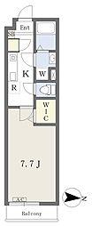 JR東北本線 土呂駅 徒歩9分の賃貸アパート 1階1Kの間取り