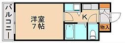 クレール寺塚[3階]の間取り