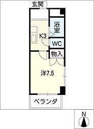 第3長岡マンション[4階]の間取り