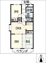ア・ドリームふじ[3階]の間取り