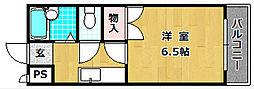 大阪府枚方市田口3丁目の賃貸マンションの間取り