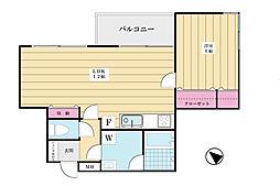 フォルトゥーナ上野毛[4階]の間取り