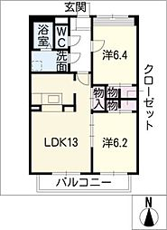SAPPYAJIOKA[1階]の間取り