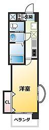 Luxe新大阪EAST2 13階1Kの間取り