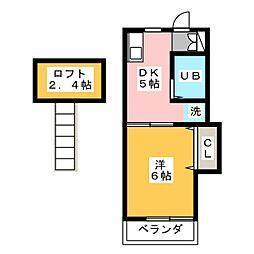 フォーブル城[2階]の間取り