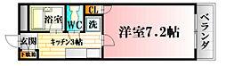 第二岡田ビル 1階1Kの間取り
