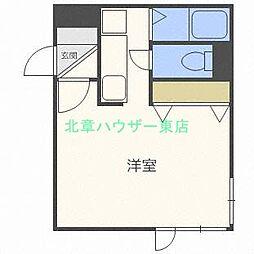 北海道札幌市東区北二十五条東1丁目の賃貸マンションの間取り