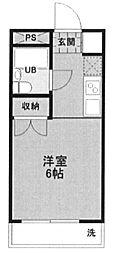 埼玉県所沢市小手指町5丁目の賃貸アパートの間取り