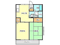 兵庫県神戸市垂水区舞子坂1丁目の賃貸アパートの間取り