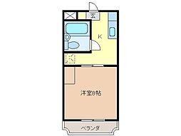 静岡県富士宮市光町の賃貸マンションの間取り
