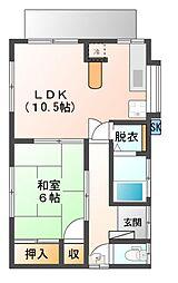 [一戸建] 静岡県三島市富士ビレッジ の賃貸【静岡県 / 三島市】の間取り