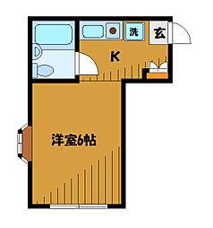 東京都小平市上水南町の賃貸アパートの間取り