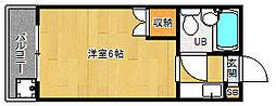 京都府京都市南区西九条横町の賃貸マンションの間取り