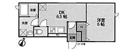 東京都新宿区北町の賃貸アパートの間取り
