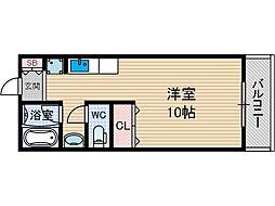 パルプラザ茨木[4階]の間取り