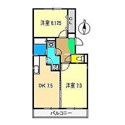 アムール(杉井流)[1階]の間取り