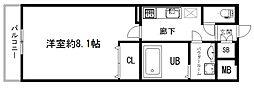 アドバンス京都アリビオ[5階]の間取り