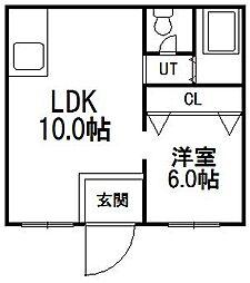 札幌ハイツ[J号室]の間取り