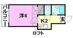 ピスカートル・K[206 号室号室]の間取り