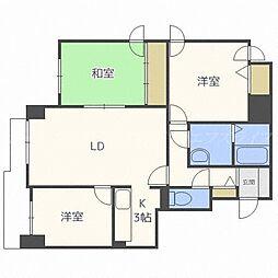 ウィスタリア35[3階]の間取り