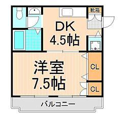 横山コーポ[101号室]の間取り