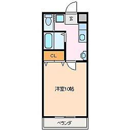 フィルネット松阪[1階]の間取り