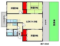 高義ビルIII[1階]の間取り