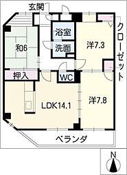 ブルーウェーブマンション[3階]の間取り