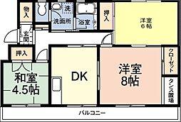 レインボーハウス有秋台西C36棟[304号室]の間取り