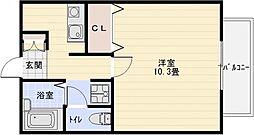 ソレアード2[1階]の間取り