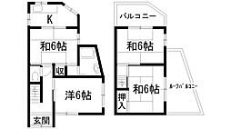 [一戸建] 兵庫県宝塚市安倉北1丁目 の賃貸【/】の間取り