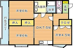 K&Nビル(ケイアンドエヌビル)[2階]の間取り