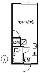 コーポKaku[105号室]の間取り