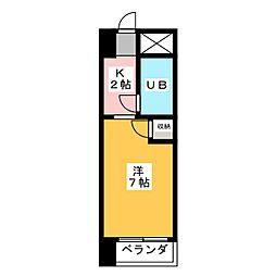 ナビオ杁中[4階]の間取り