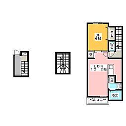 Amazing SquareD[3階]の間取り