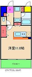 カルムクレール2.5.8[4階]の間取り